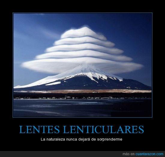 lenticulares,monte fuji,naturaleza,nubes