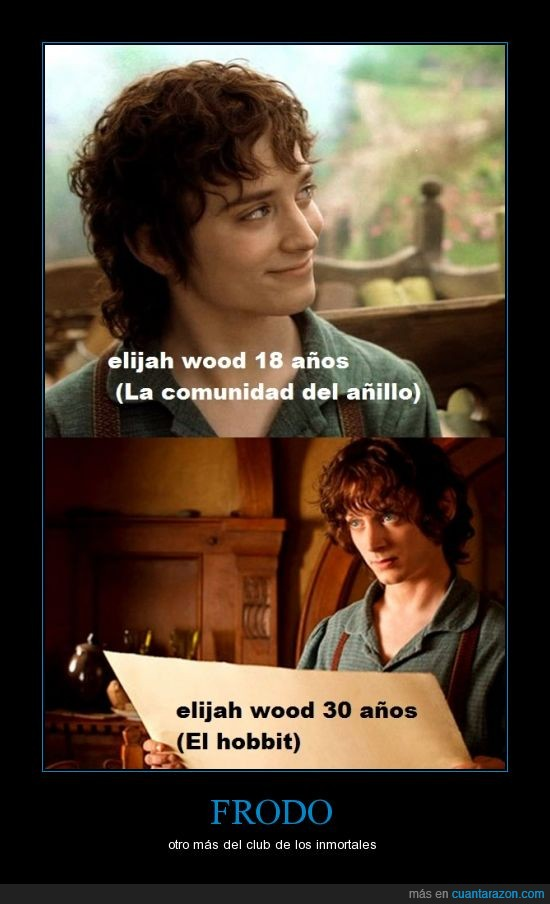 actor,edad,elijah wood,envejecer,frodo,hobbit,inmortal,joven,señor de los anillos
