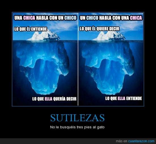 chica,chico,decir,entender,hablar,iceberg,querer