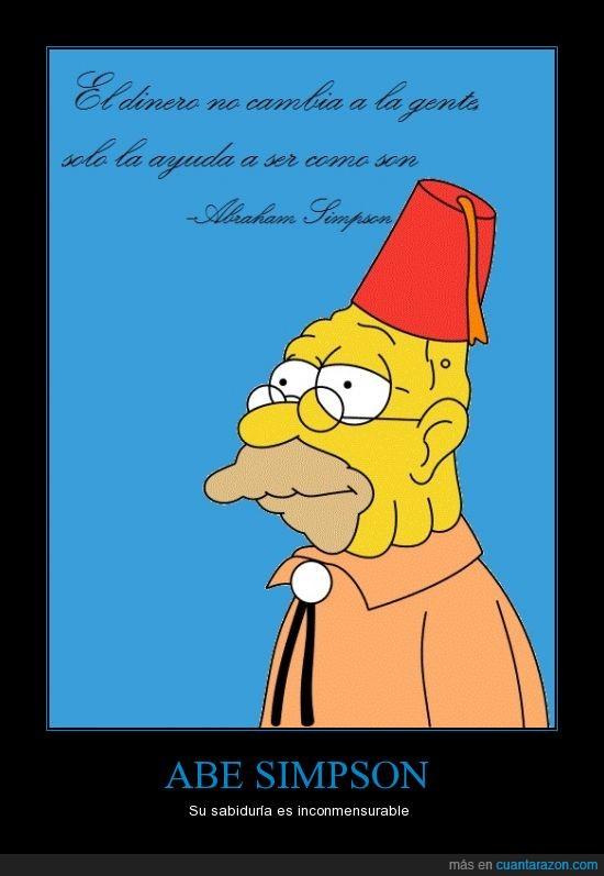 Abraham,abuelo,ayudar,cartel publicado,dinero,Simpson