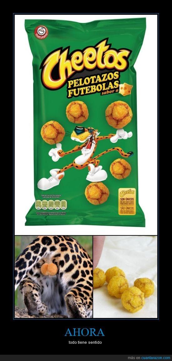 Cheeto,felino,guepardo,patatas,pelotazos,testiculos