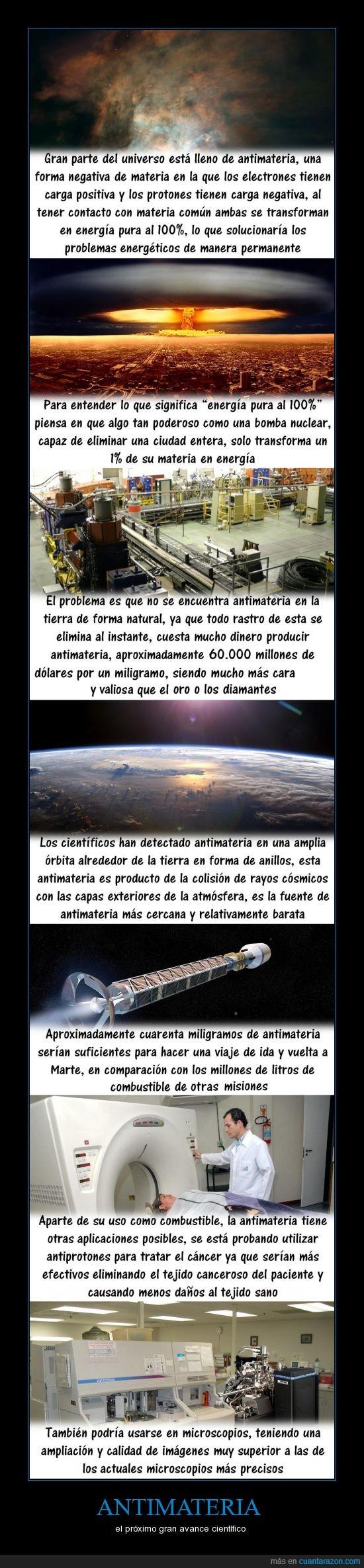 antimateria,ciencia,espacio,medicina,tecnología