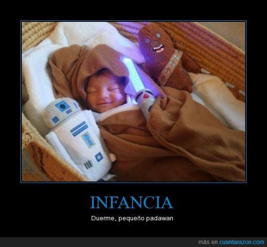 bebe,chewbacca,cuna,dormir,infancia,jedi,niño,peluche