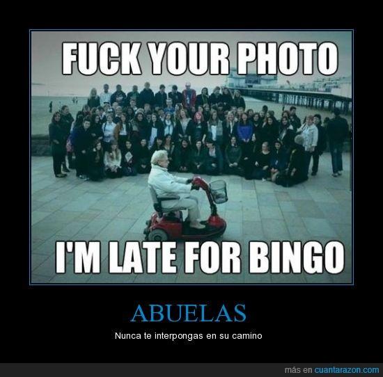 abuelas,bingo,camíno,foto,personas,tarde