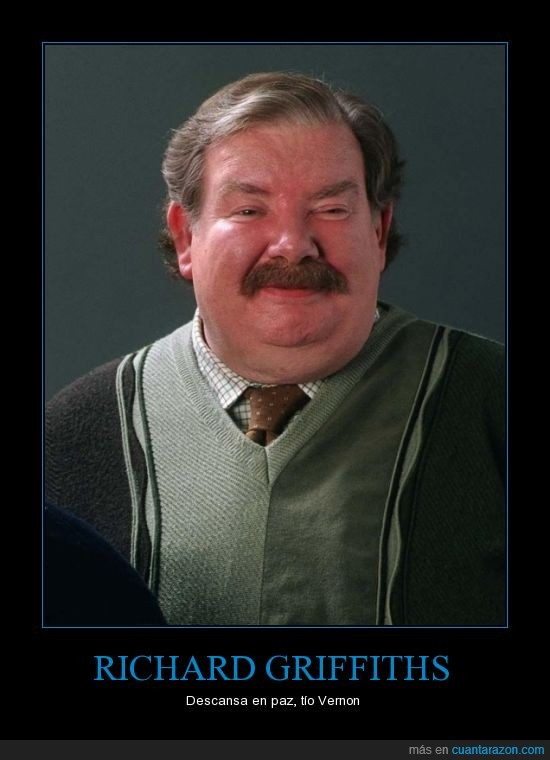 Fallece,Gran Actor,Harry Potter,Richard Griffiths,Tío Vernon