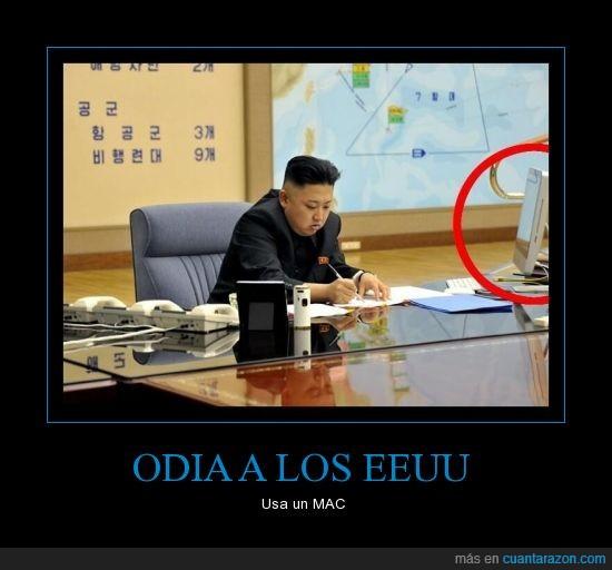 Hipócrita,Kim Jong-un,Mac.Apple.Corea,Norte,Siiii claro comunista