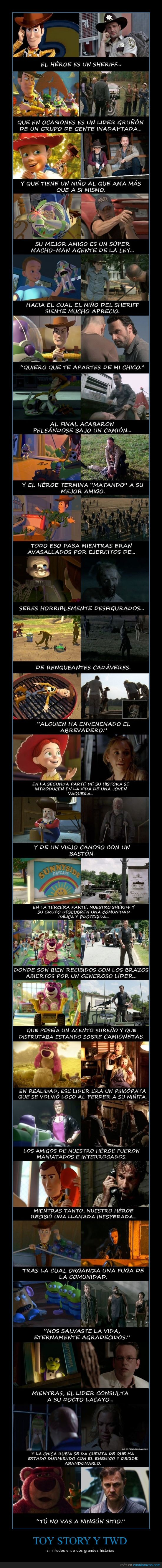 grandes historias,similitudes,Toy Story,TWD