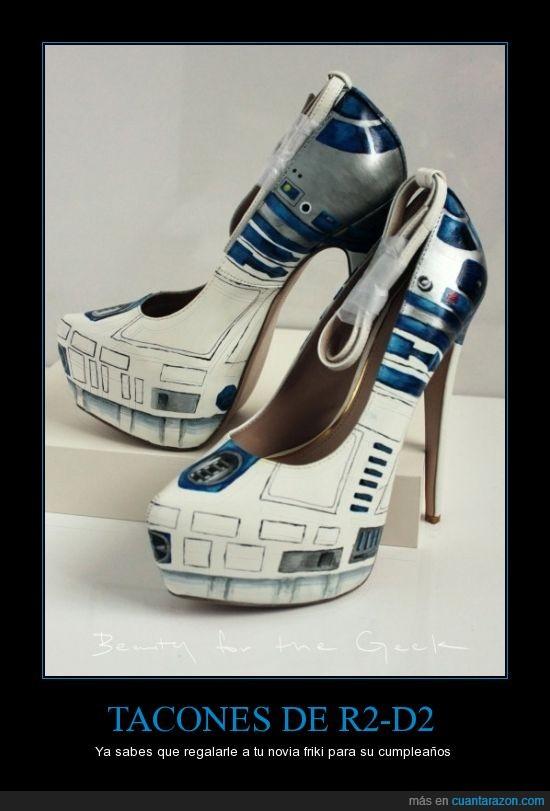 r2d2,star wars,tacones,zapatos