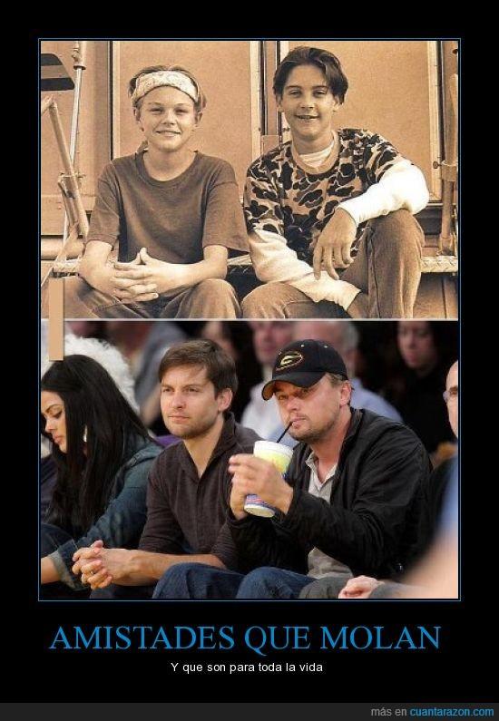 actores,Amigos,amistad,leonardo DiCaprio,Tobey Maguire
