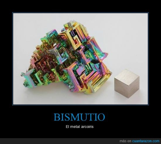 bismutio,color,elemento,forma,metal,piedra