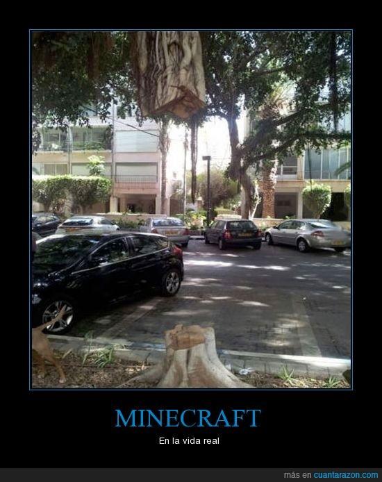 Cómo cortar un árbol fácilmente,Minecraft