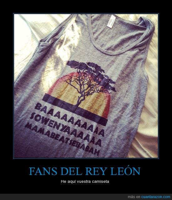 camiseta,rey leon,sigüeña
