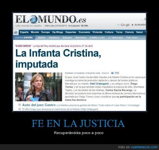 Cristina,España,imputada,Infanta,juez,justicia,Urdangarín