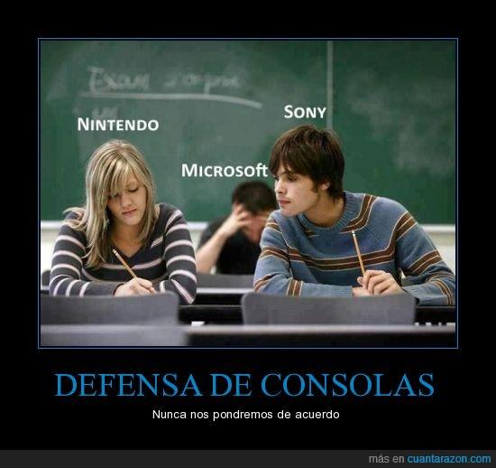 defensa,gamer,microsoft,nintendo,sony,videojuegos