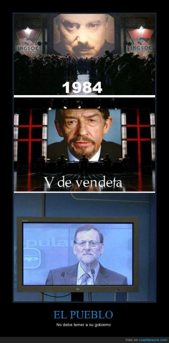 1984,broma,crisis,españa,george orwell,pantalla,películas,Rajoy,revolución,V de venganza,V for Vendetta
