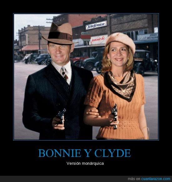Bonnie y Clyde,cristina,españa,infanta,monarquia,urdangarin,ya les vale
