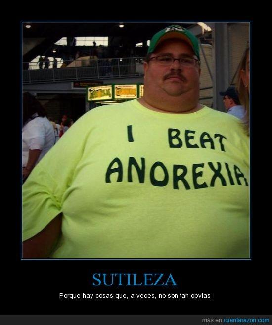 anorexia,camiseta,ejemplo,gordo,superación