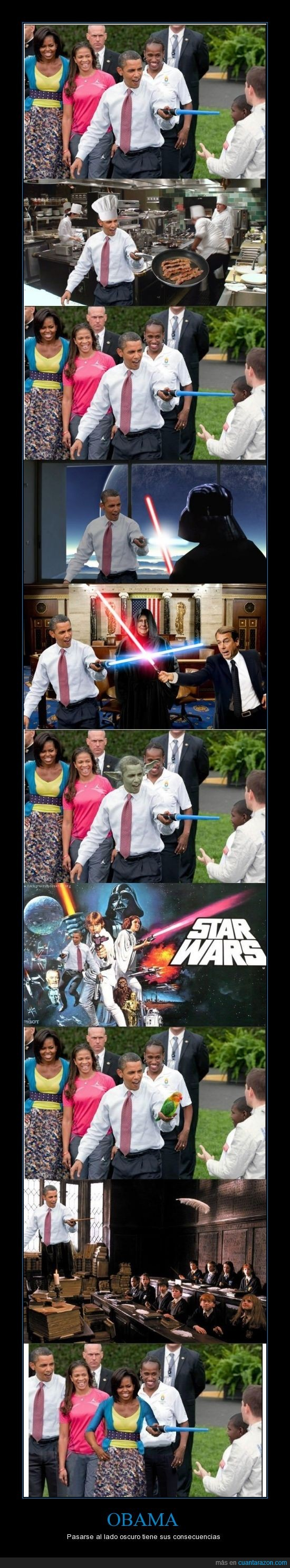 Barack Obama,Michelle Obama,no?,obama sera del lado oscuro,presidente EE UU