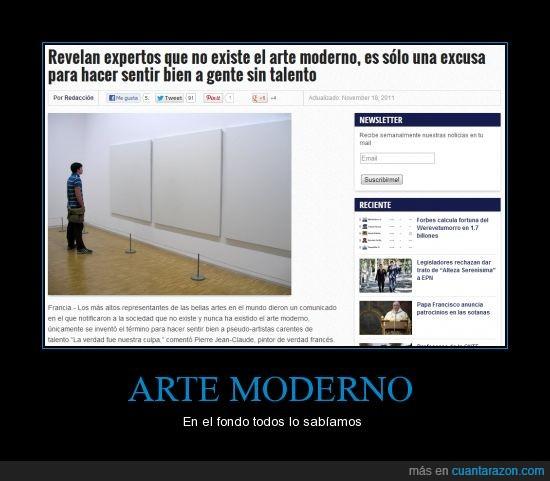 arte,arte moderno,excusa