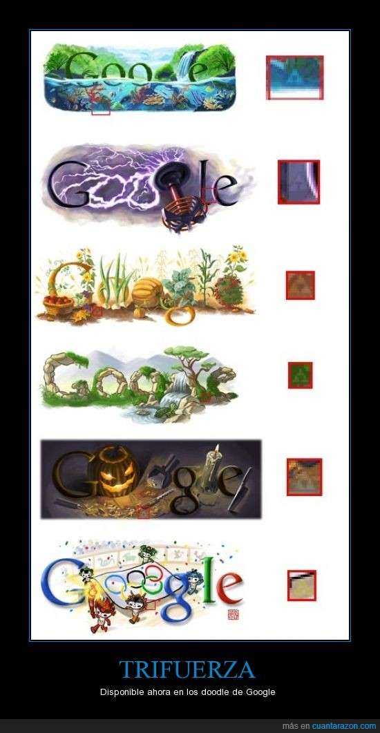 doodle,friki,genial,ocultos,trifuerza