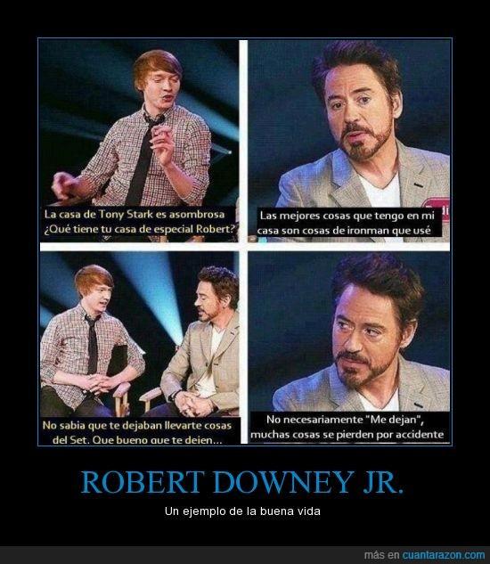 cosas,Robert Downey Jr.,sacar,set
