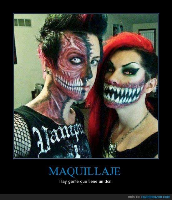 boca,dientes,maquillaje,musculo,parece Baraka :O,zombie