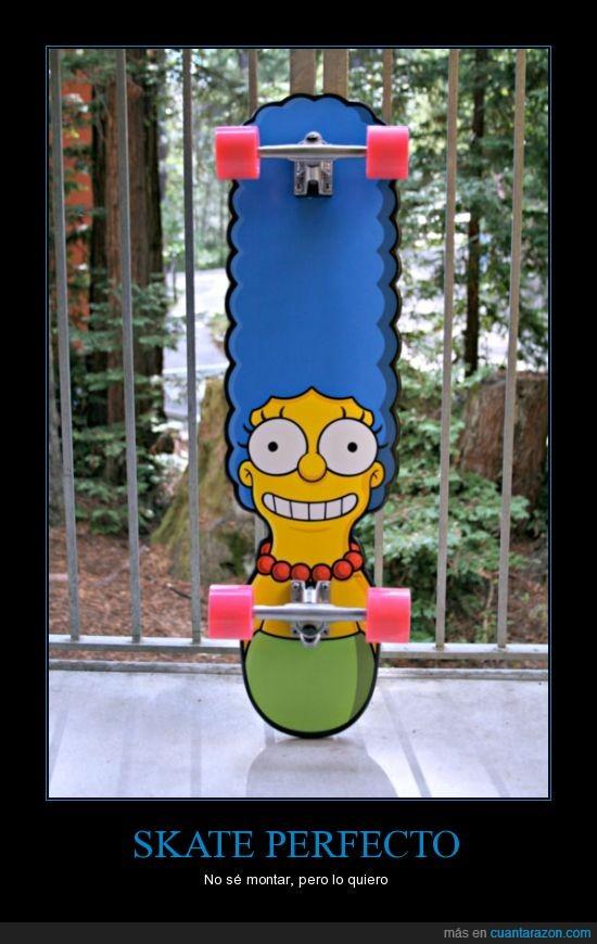 longboard,marge simpson,skate,tabla