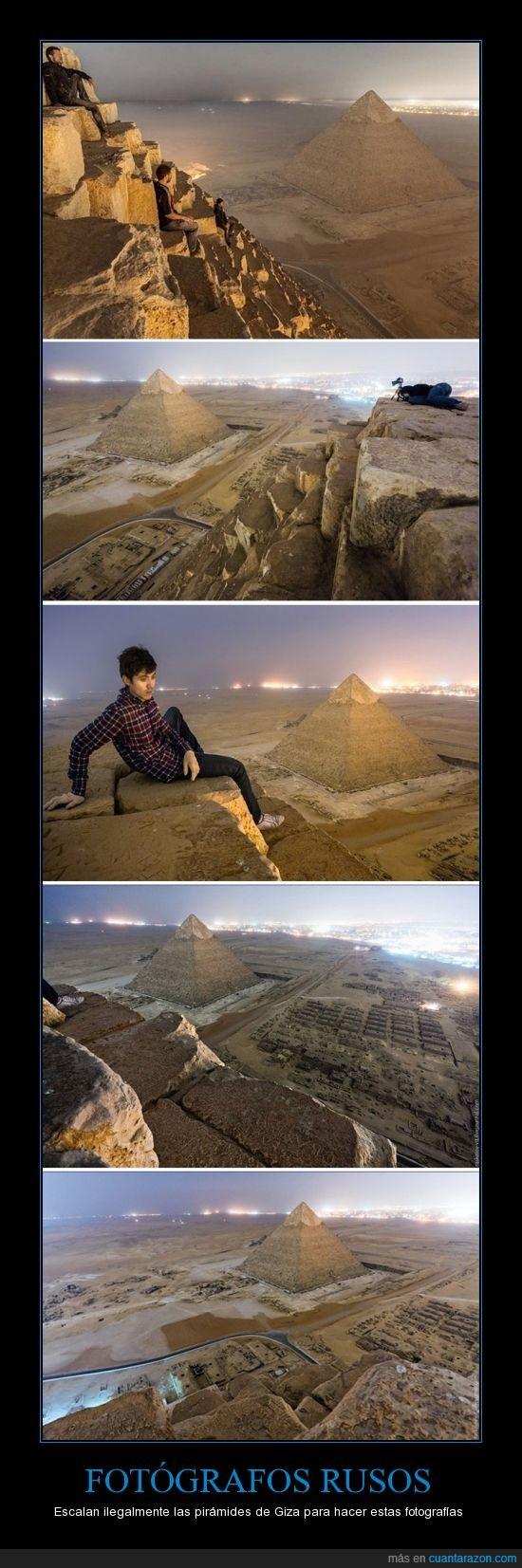 de Giza,Egipto,fotografos rusos,impresionante,Piramides