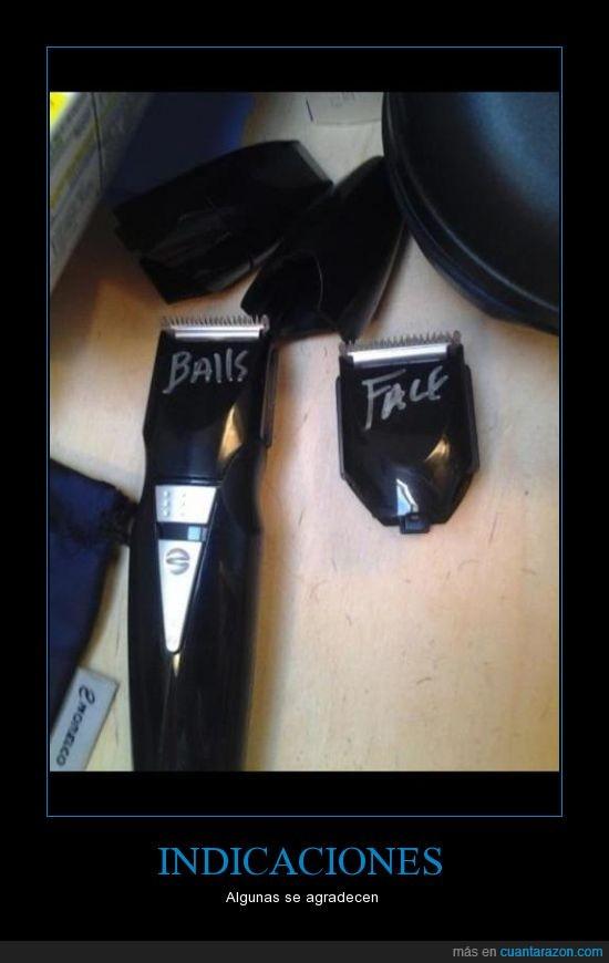 afeitar,balls,especificar,face,indicar,maquina,nombre,pelo