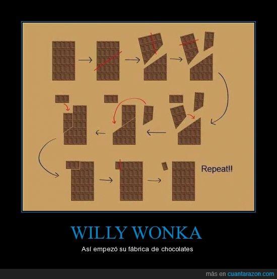 chocolate,infinito,trollscience,Willy Wonka