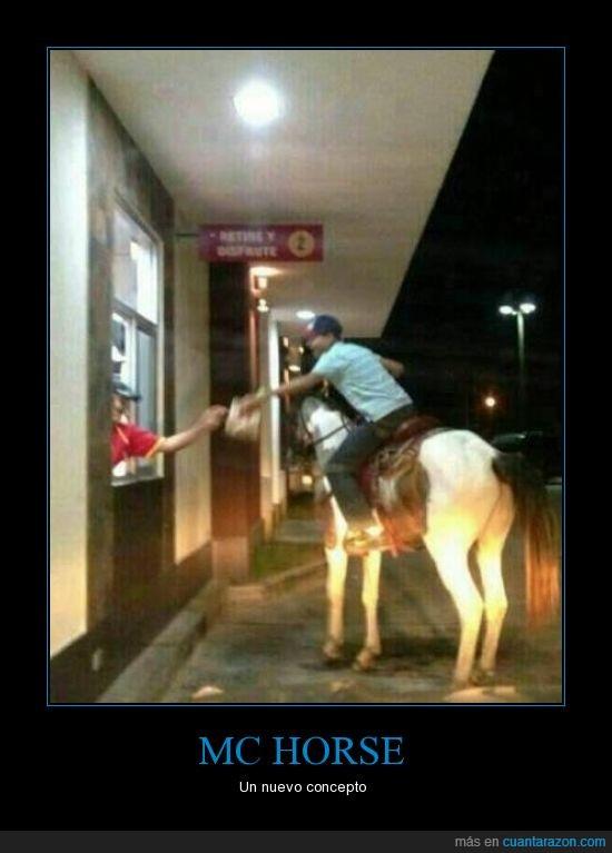 caballo,comida,horse,Mcauto,Mcdonalds,pedido