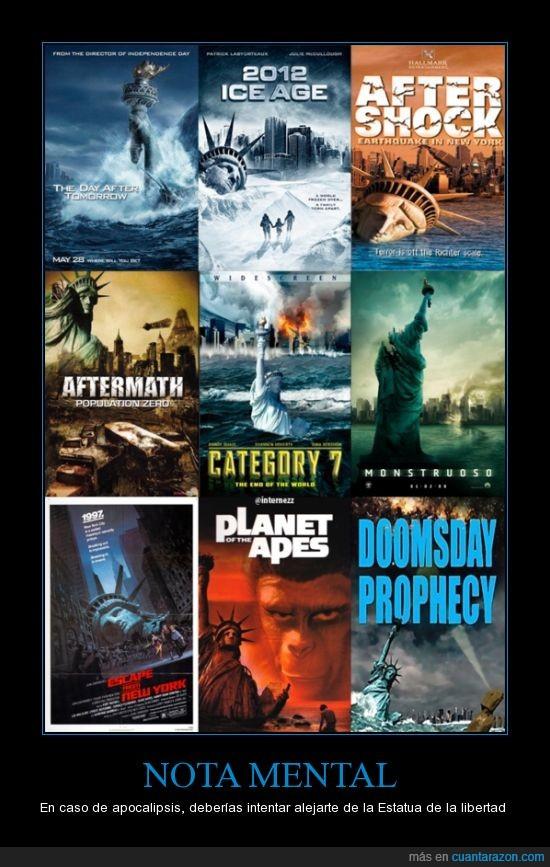 apocalipsis,estatua de la libertad,películas