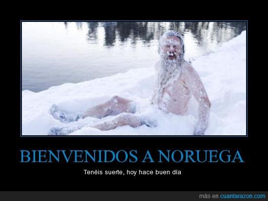 anfetas,colgao de las nieves,frio,hielo,nieve,Noruega,salsa roquefort