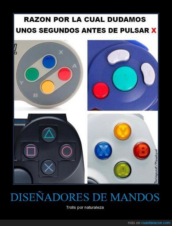 botones,diseñadores,joystick,mando,nintendo 64,playstation,super nintendo,x,xbox