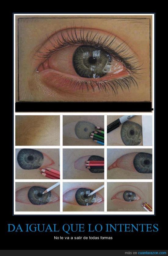 dibujo,humedad,ojo,realismo,rojo