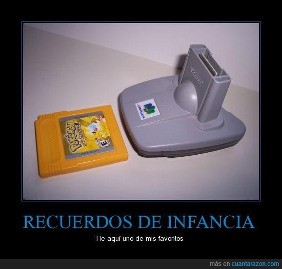 adaptador,Nintendo 64,Pokémon,stadium,transfer,Versión Amarilla
