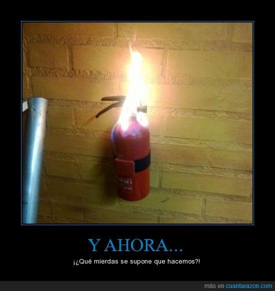 apagar,extintor,fuego,incendio,llama,wtf
