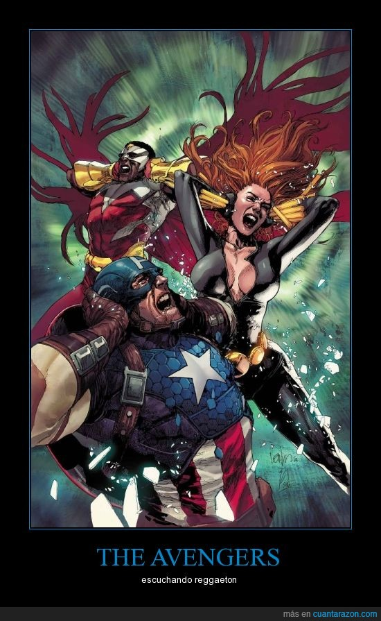black widow,captain america,falcon,leinil yu,reggaeton