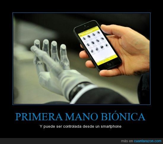bionica,mano,movil,smartphone