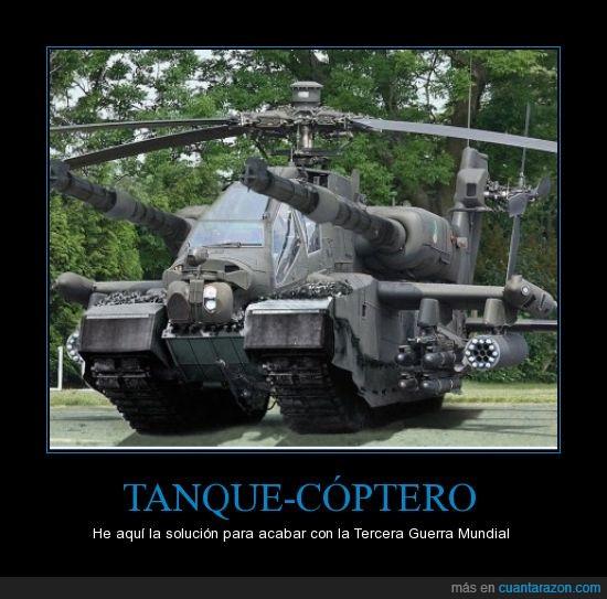arma de destrucción masiva,definitivo,helicóptero,solución,tanque,tercera guerra mundial