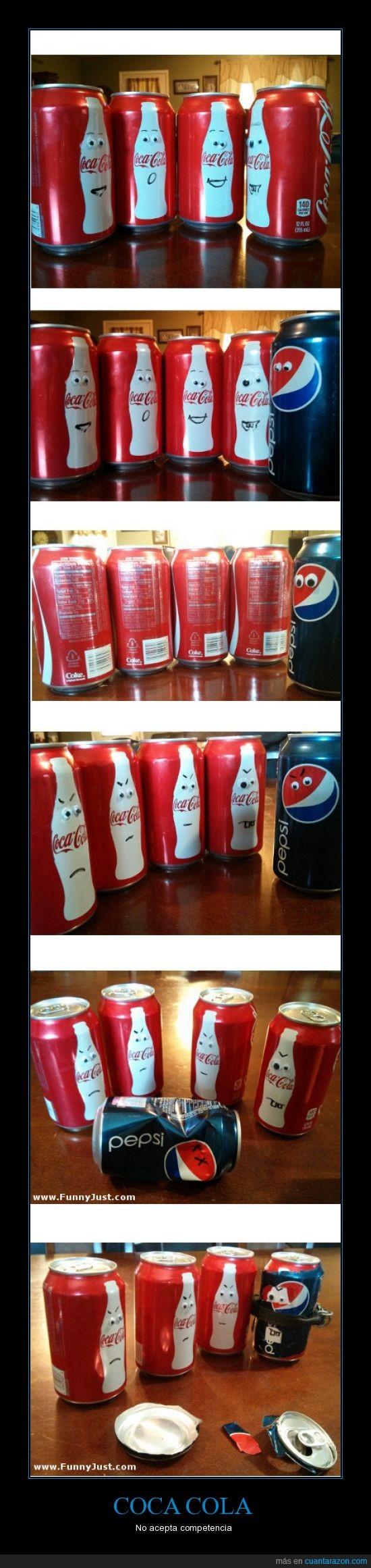 agresiva,coca cola,latas,pepsi