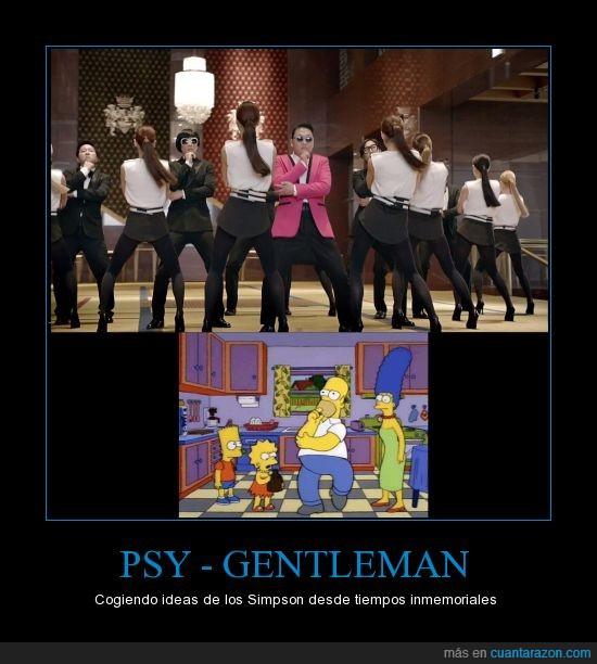 copia,gangnam style,gentleman,homer,nuevo baile psy,plagio