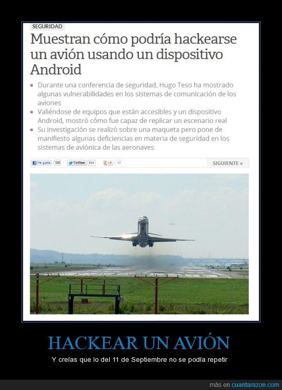 11 de septiembre,andorid,avión,Hacker