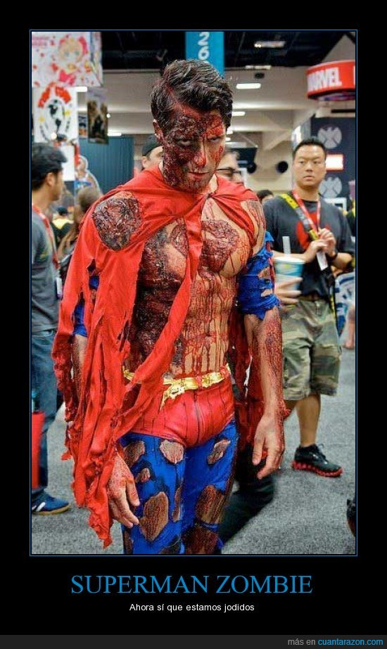 cosplay,disfraz,sangre,superman,wondercon,zombie