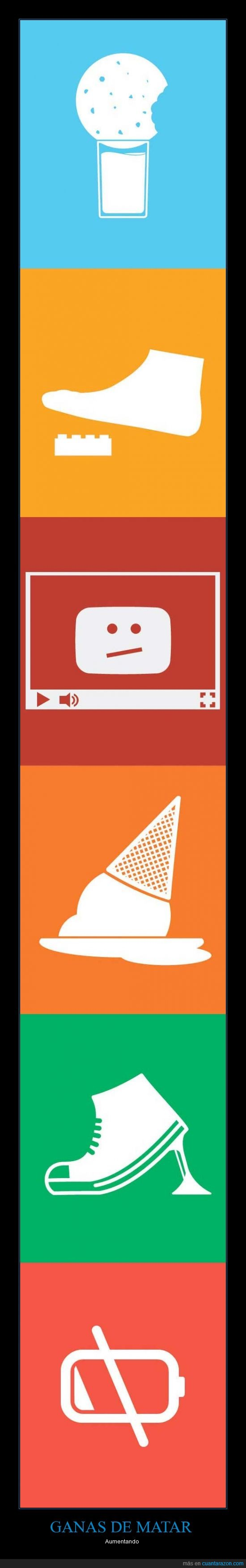 bateria,chicle,galleta,helado,leche,pisar,youtube