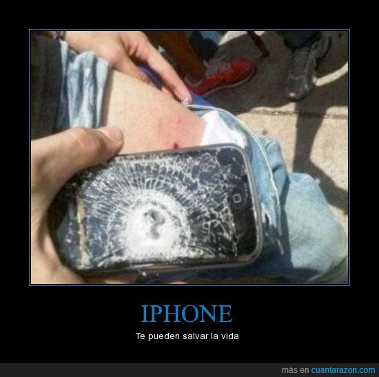 Balas,chaleco,dispazo,iPhone,matar,parar,salvar