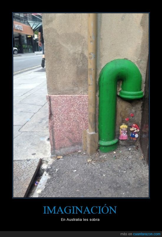 Australia,imaginación,mario,nintendo,país,peach,princesa,tubo,verde