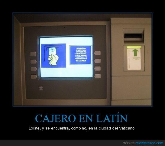 cajero,existe,latin,vaticano