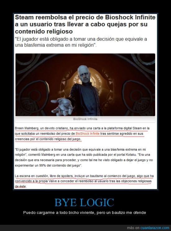 Bautizos,Bioshock,Bioshock Infinite,Religiones