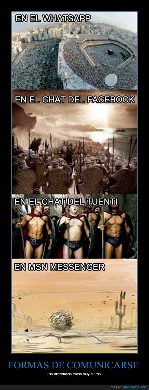 comunicarse,facebook,messenger,tuenti,whatsapp